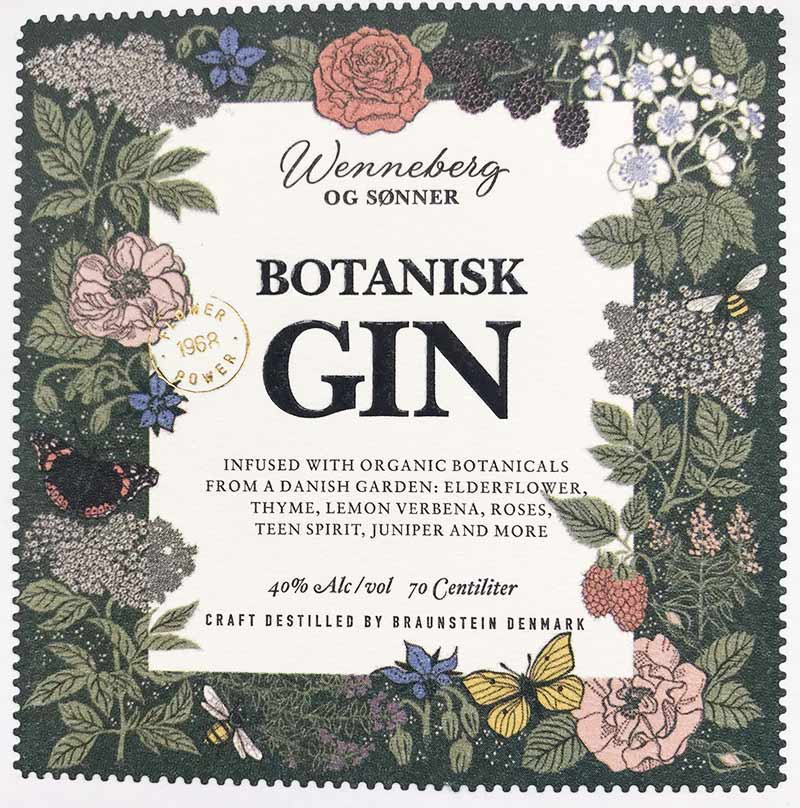 Botanisk gin label